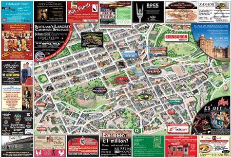 printable street map of edinburgh city centre large detailed tourist and info map of edinburgh city