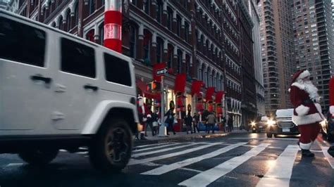 jeep christmas lights jeep wrangler tv commercial 2014 big finish event