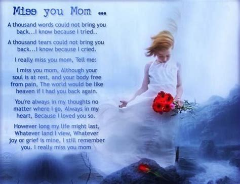 imagenes de i miss you mom miss you mom quote pictures photos and images for