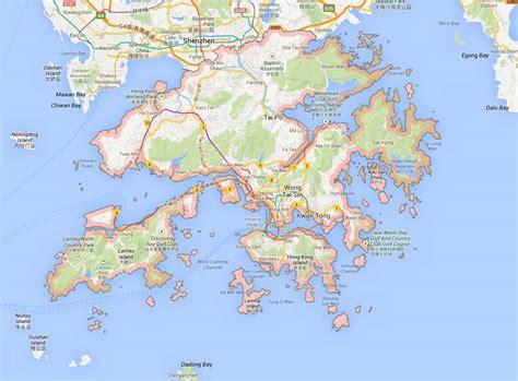 hong kong map hong kong map location country and district map of hong kong
