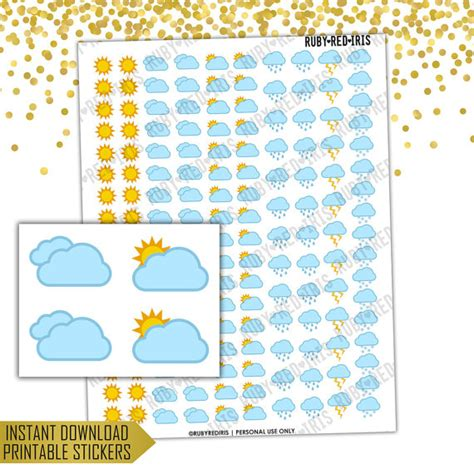 weather planner stickers printable weather trackers printable planner stickers pdf jpg