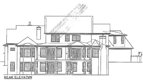 European Home With 2 Story Library 15899ge 1st Floor Two Story House Plans With Library