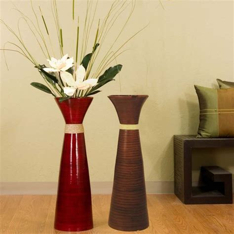 stylish red and grey floor vases design ideas on laminate