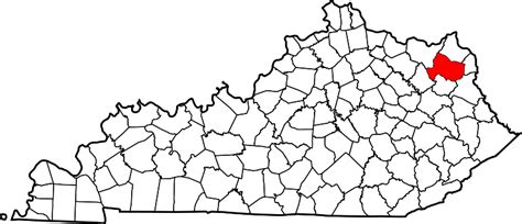 State Of Kentucky Marriage Records Map Of Kentucky Highlighting County