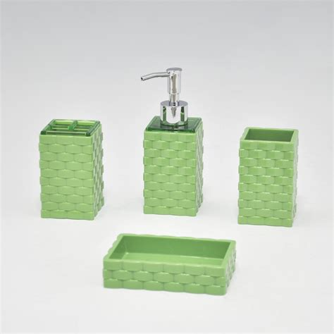 Accessories Bathroom Sets 4 Piece Clear Acrylic Bathroom Lucite Bathroom Accessories