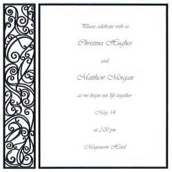 free printable blank wedding invitation templates blank wedding invitations templates wblqual