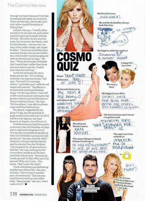 Or Questions Cosmopolitan деми ловато для августовского номера журнала Cosmopolitan