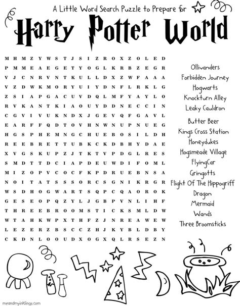 printable crossword puzzles universal harrypotter free word search puzzle and planning ideas