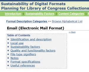 email format eml tools and infrastructure the signal digital preservation