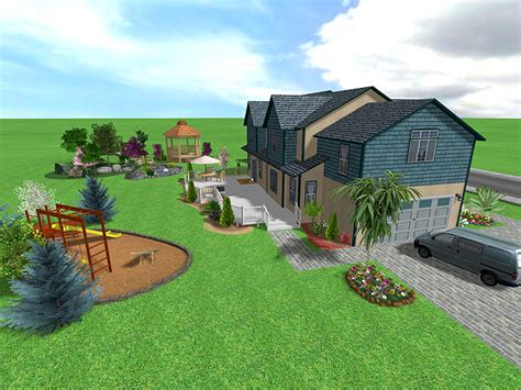 1 Acre Backyard Design by Landscape Design Software Gallery Page 2