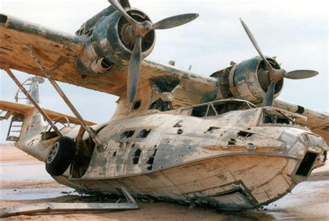 abandoned catalina seaplane 50 years between the sea and