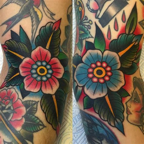 traditional flower tattoos best 25 american traditional sleeve ideas on