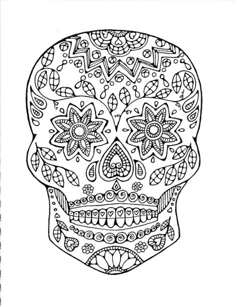 coloring pages for adults of skulls sugar skull coloring page coloring page colouring