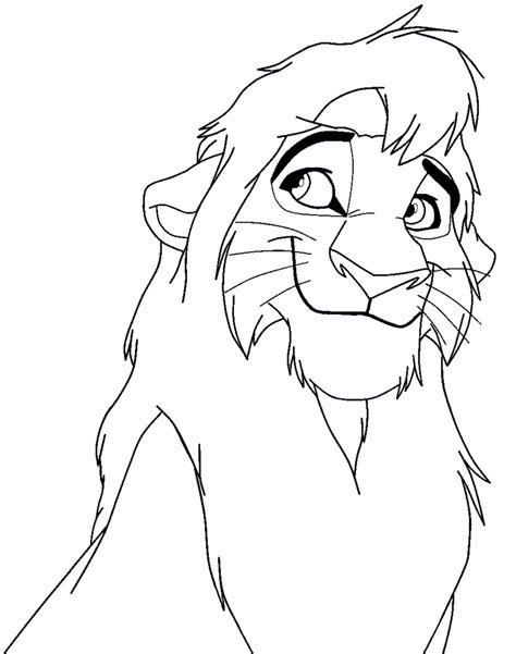 lion king 2 kovu coloring pages lion king 2 coloring pages kovu