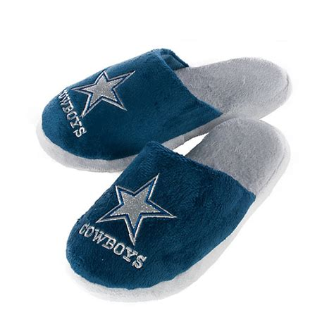 dallas cowboys slippers dallas cowboys womens glitter sherpa slippers bath