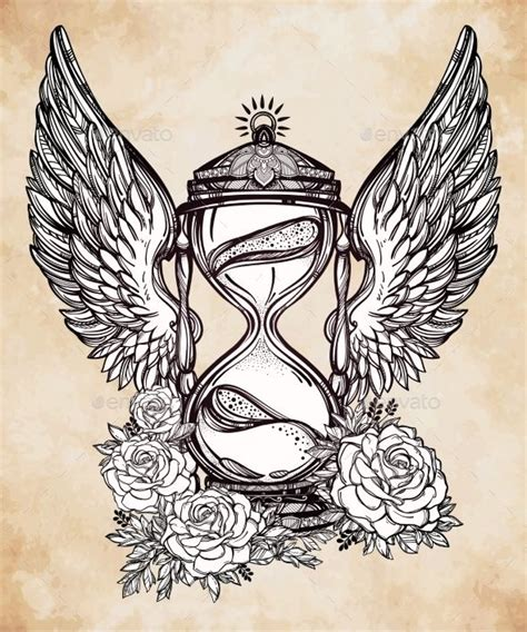 hourglass rose tattoo 25 best ideas about hourglass on