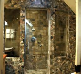 oval and plaid stone shower bathroom image breathtaking natural design lovable vanity