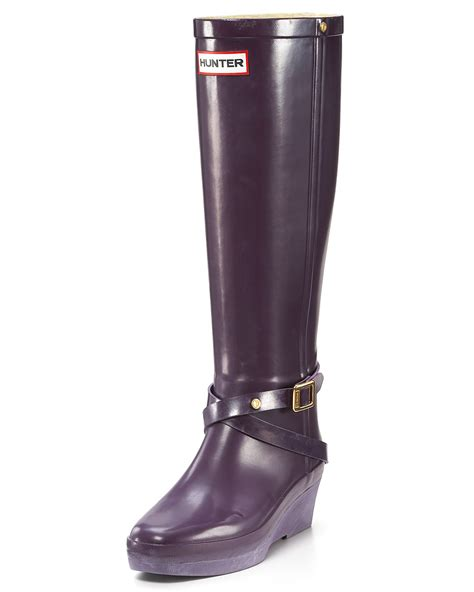 quot andora quot wedge rubber boots bloomingdale s