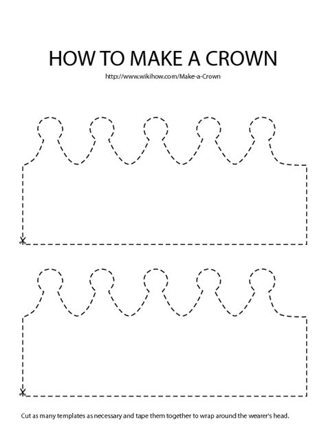 How To Make A Paper C - make a crown crown template crown and template