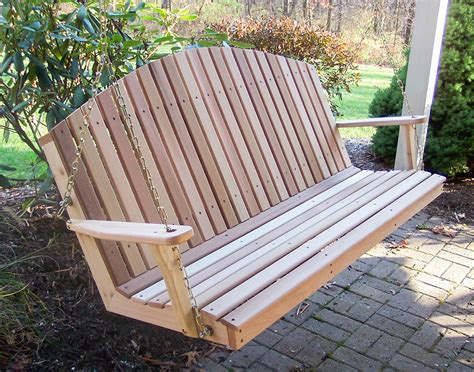 red cedar porch swing red cedar blue mountain fanback porch swing