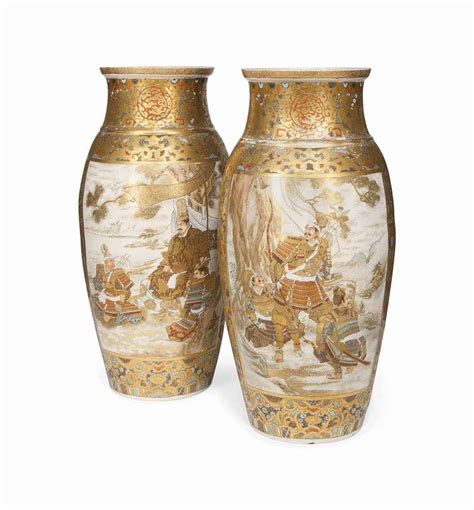 large vases a pair of large japanese satsuma vases meiji period 1868 1912 christie s