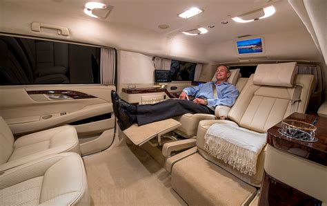 Custom Cadillac Escalade Interior by Custom Stretched Cadillac Escalade Evs Offers Jet