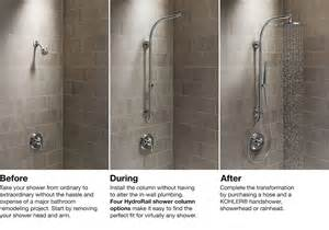 How To Choose Kitchen Faucet hydrorail 174 shower columns bathroom kohler