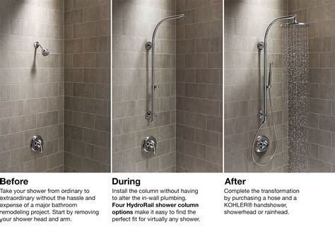 Replace Kitchen Faucet hydrorail 174 shower columns bathroom kohler