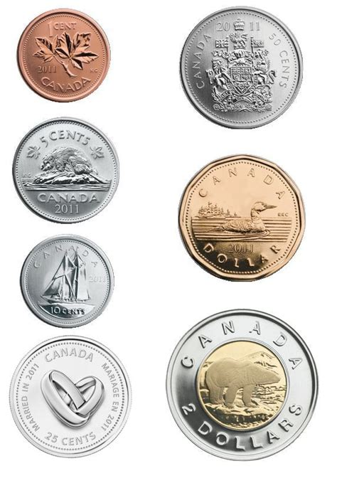 Wedding Gift Money Canada by Canada 2011 Wedding 7 Coin Gift Set With Wedding Rings