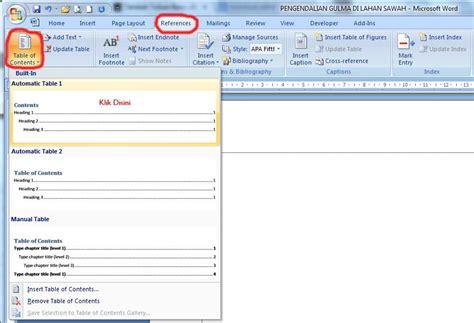 cara membuat daftar isi di word 2013 youtube cara membuat daftar isi ms word 2007 lebih rapi youtube