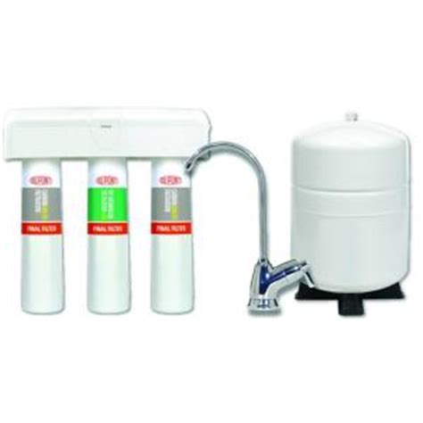 Osmosis System Home Depot by Dupont 3 Stage Quicktwist Osmosis Water Filtration
