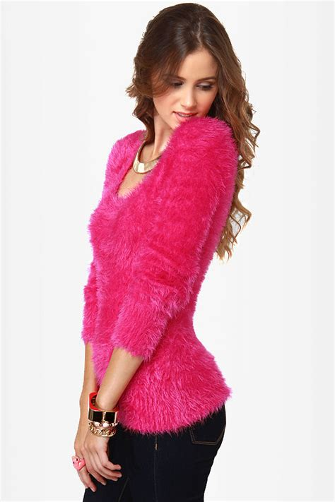 Sweater Pink List adorable pink sweater fuzzy sweater 41 00