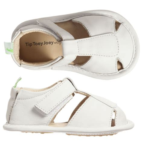 baby white sandals tip toey joey baby white leather sandals childrensalon