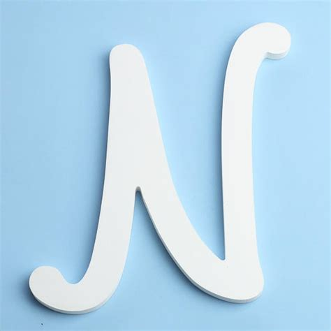 Letter Decorations For Nursery by White Brush Font Wood Letter N Word And Letter Cutouts