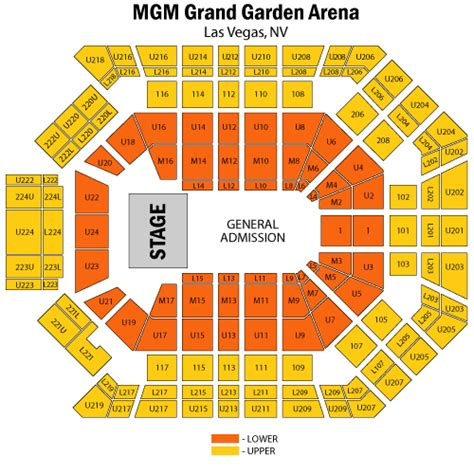 Mgm Grand Garden Arena Seating mgm grand garden arena seating chart