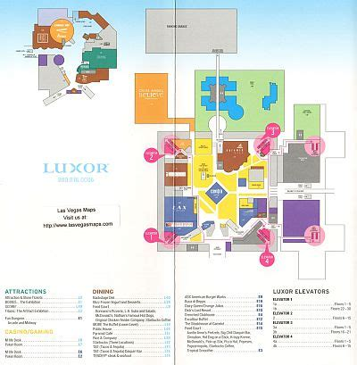 hotel layout las vegas luxor property map las vegas maps