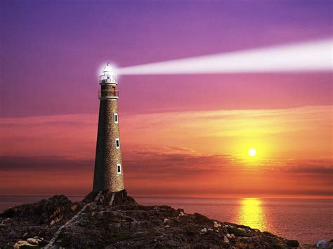 to the lighthouse a beam of light from the lighthouse wallpapers and images wallpapers pictures photos