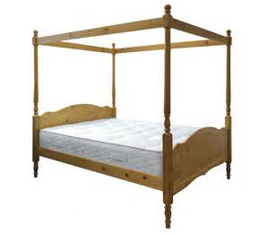 4 Poster King Bed Frame Pine Four Poster Bed Frame King Size 5ft Veneza Princess Style