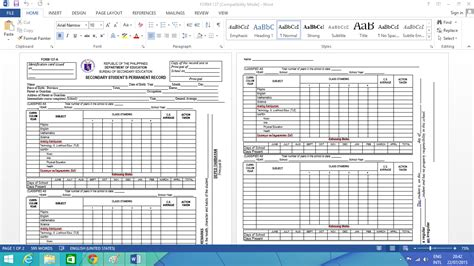 high school report card template deped free editable k 12 form 137 template for