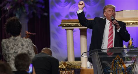 donald trump church trump flashes humility in first ever black church visit