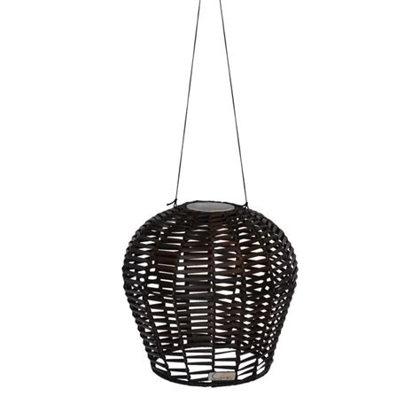 Wicker Pendant Light Kiran Solar Outdoor Wicker Pendant Light In Brown Buy