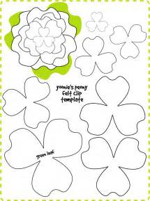 felt flower templates flower template felt flowers patterns and paper