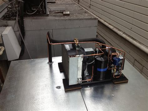 walk in cooler unit new walk in cooler with copeland 1hp condensing unit on