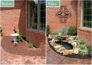diy backyard pond landscape water feature oh my creative