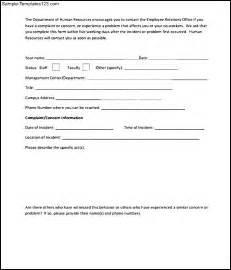 employee complaint form template doc 460595 employee complaint form exle employee