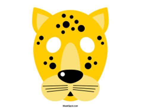 printable leopard mask