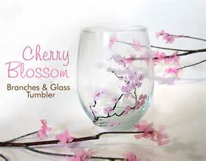Japan Vase 365 Designs Diy Cherry Blossom Branches Amp Glass Tumblers