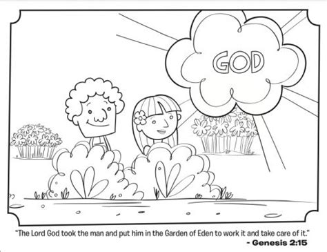 garden of eden coloring pages free printable kids coloring page from what s in the bible featuring