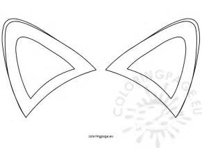outline templates fox ears template coloring page
