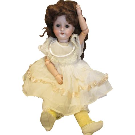 bisque doll sweet 14 quot german bisque doll from nostalgicimages on